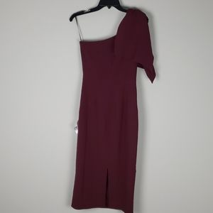 NWT Dress the Population Tiffany 1 shoulder sz s